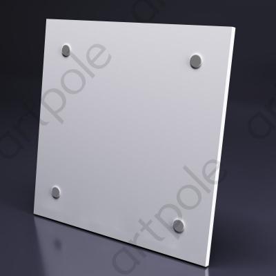 Гипсовая 3D панель LOFT-OPEN с крепленими открытого типа 600x600x16 мм