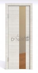 Дверь межкомнатная DO-504 Ива светлая/зеркало Бронза
