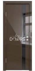 ШИ дверь DO-607 Шоколад глянец/стекло Черное