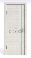 Дверь межкомнатная DO-507 Ива светлая/стекло Белое