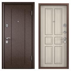 Дверь TOREX DELTA-M 10 Медный антик / Белый перламутр