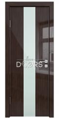 ШИ дверь DO-610 Венге глянец/стекло Белое
