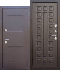 Входная дверь Ferroni c ТЕРМОРАЗРЫВОМ 11 см Isoterma медный антик Венге