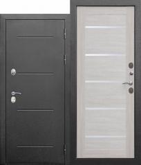 Входная морозостойкая дверь Ferroni c ТЕРМОРАЗРЫВОМ 11 см Isoterma СЕРЕБРО Лиственница беж