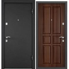 Дверь TOREX X3 Темно-серый букле графит / Орех НОРД