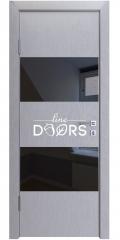 Дверь межкомнатная DO-508 Металлик/стекло Черное