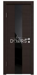 ШИ дверь DO-610 Венге горизонтальный/стекло Черное