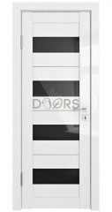 Дверь межкомнатная DO-TRIS Белый глянец/Черное