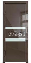 ШИ дверь DO-612 Шоколад глянец/стекло Белое
