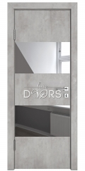 Дверь межкомнатная DO-508 Бетон светлый/Зеркало