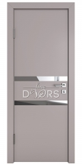 ШИ дверь DO-613 Серый бархат/Зеркало
