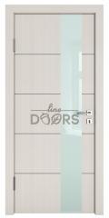 Дверь межкомнатная TL-DO-504 Крем/стекло Белое