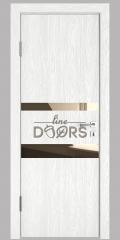 Дверь межкомнатная DO-512 Белый глубокий/зеркало Бронза