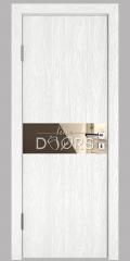 ШИ дверь DO-609 Белый глубокий/зеркало Бронза