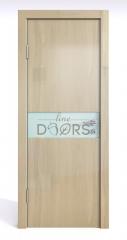 Дверь межкомнатная DO-509 Анегри светлый/стекло Белое