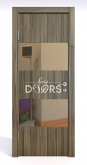 ШИ дверь DO-608 Сосна глянец/зеркало Бронза