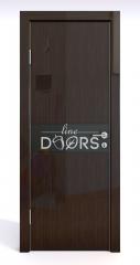 Дверь межкомнатная DO-509 Венге глянец/стекло Черное