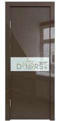 ШИ дверь DO-609 Шоколад глянец/стекло Белое