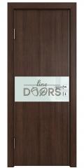 Дверь межкомнатная DO-501 Мокко/стекло Белое