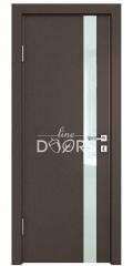 Дверь межкомнатная DO-507 Бронза/стекло Белое