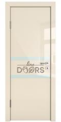 Дверь межкомнатная DO-513 Ваниль глянец/стекло Белое