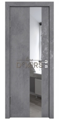ШИ дверь DO-604 Бетон темный/Зеркало