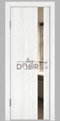 Дверь межкомнатная DO-507 Белый глубокий/зеркало Бронза