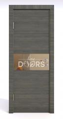 Дверь межкомнатная DO-501 Ольха темная/зеркало Бронза