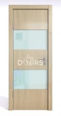 Дверь межкомнатная DO-508 Анегри светлый/стекло Белое