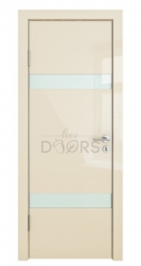 Дверь межкомнатная DO-502 Ваниль глянец/стекло Белое