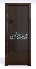 Дверь межкомнатная DO-501 Венге глянец/стекло Черное