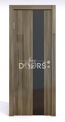 Дверь межкомнатная DO-504 Сосна глянец/стекло Черное