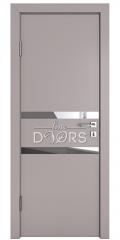 Дверь межкомнатная DO-513 Серый бархат/Зеркало