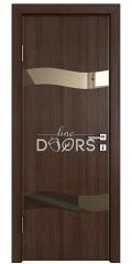 Дверь межкомнатная DO-503 Мокко/зеркало Бронза