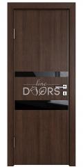 Дверь межкомнатная DO-512 Мокко/стекло Черное