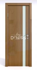 ШИ дверь DO-607 Анегри темный/стекло Белое