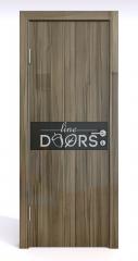 Дверь межкомнатная DO-509 Сосна глянец/стекло Черное