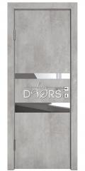 Дверь межкомнатная DO-512 Бетон светлый/Зеркало