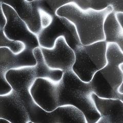 Гипсовая 3D панель Декор для SULTAN большой Smoggy черный 185х185мм, фацет 10мм 185x185x10 мм