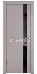 ШИ дверь DO-607 Серый бархат/стекло Черное