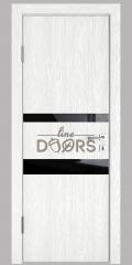 ШИ дверь DO-612 Белый глубокий/стекло Черное