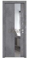 Дверь межкомнатная DO-504 Бетон темный/Зеркало