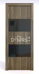 Дверь межкомнатная DO-508 Сосна глянец/стекло Черное