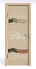Дверь межкомнатная DO-503 Неаполь/зеркало Бронза