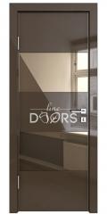 Дверь межкомнатная DO-508 Шоколад глянец/зеркало Бронза