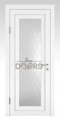 Дверь межкомнатная DO-PG6 Белый бархат/Ромб