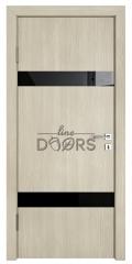 Дверь межкомнатная TL-DO-502 Клен/стекло Черное