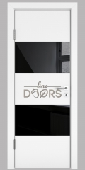 Дверь межкомнатная DO-508 Белый бархат/стекло Черное