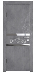 ШИ дверь DO-613 Бетон темный/Зеркало