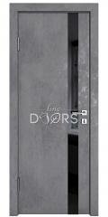 ШИ дверь DO-607 Бетон темный/стекло Черное